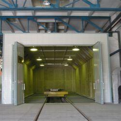 Salle de haute abrasif Quanlity Blast pour une grande structure en acier