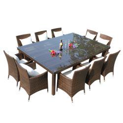 Populäre Entwurfs-im Freiengarten-Möbel-UV-Beständiges Rattan-Stuhl-Tisch-Set