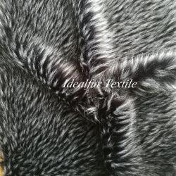 El pelo largo Jacquard colorido Collar de cuero de imitación Raccoon