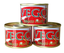 Las conservas de pasta de tomate de excelente calidad de embalaje de estaño mejor precio el tamaño de 70g, 400G, 800G, 2200G