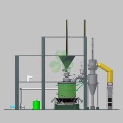 Cadinho de alumínio fábrica usam carvão gerador de gás em vez de GPL, o Gás Natural petróleo