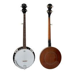Aiersi 5-string com Banjo Remo Pele Tampa da câmara antivibrações mogno Bj005-24