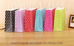 Commerce de gros prix bon marché de l'art imprimé/Kraft/enduits/carton réutilisables de faire du shopping et de l'artisanat/transporter les sacs en papier