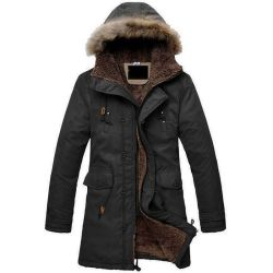 シェルパ裏地付き、厚手コート Pure Cotton CAVAs ファブリックジャケット