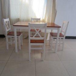 단단한 목재 가구 식사 테이블과 4개의 의자