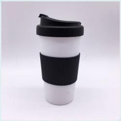Zoll druckte Plastikarbeitsweg-Kaffeetasse (SH-PM29)