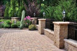 El diseño artístico hierro forjado, valla de jardín uid-F005