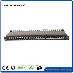 1u o FTP Cat6um patch panel da rede com 24 portas
