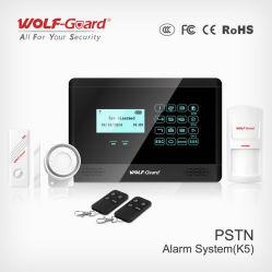 Система охранной сигнализации ЖК-дисплей с прибора контроля 4 проводной и беспроводной связи 99 зон защиты