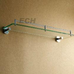 Acero inoxidable y vidrio, baño individual Estante de cristal (GHY-8971)