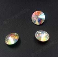 El cristal de Rivoli rebordea Rhinestones rebordeados color de la Punta-Detrás de 18m m Ab