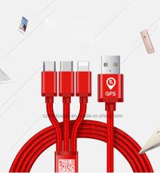 Universal-USB 3 in 1 Ladung-Kabel-multi Auto-Aufladeeinheits-Kabel für GPS Iphones Samsung