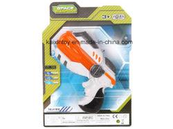 Brinquedo plástico de pistola B / O com luz laser intermitente