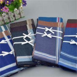 Preiswertes weiches Baumwolldunkle Farben-Randmens-Taschentuch