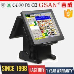 La pantalla dual POS uno contacto equipo