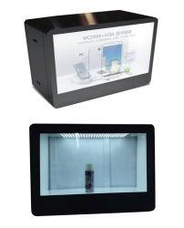 43 pulgadas LCD transparente Caja de mostrador de exposición de la red WiFi el reproductor de medios publicitarios, LCD TFT Anuncio de Vídeo Player