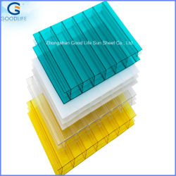 High Quality UV Resistant Twinwall Polycarbonate Hollow Roofing Sheet