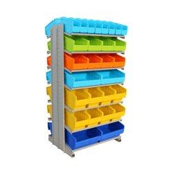 4s et l'entrepôt magasin de bac en plastique de l'unité de rack pour l'outil de sélection l'organisation