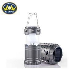 ABS 6levou a energia solar Camping Luz, Lâmpada de Campismo recarregável, Lanterna dobrável