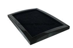 시계 및 귀금속을 위한 검은색 고광택 목재 서비스 트레이 디스플레이 또는 스트래지