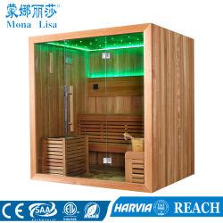 4 à 6 personne Rectangle autostable salle de sauna en bois (M-6044)