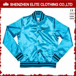 Оптовая торговля Custom Satin Baseball куртки синего цвета