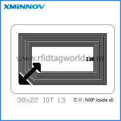 La RFID HF Gravure fragile avec la taille de l'antenne 38*22 mm