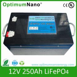 De diepe Batterij van de Cyclus LiFePO4 12V 250ah voor de Bestelwagen van de Kampeerauto
