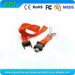 Logotipo personalizado Corda de unidade flash USB com o chaveiro (ET550)
