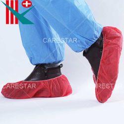 手で作られる足底の滑り止めが付いた/滑り止めの印刷を用いる使い捨て可能なPP/PolypropyleneのNon-Woven滑り止めが付いた/滑り止めの靴カバー、