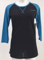 La mujer de la moda de personalizar el logotipo impreso en bicicleta/Bicicleta Sportswear capa base de Jersey de Lana Merino