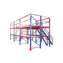 Для тяжелого режима работы металлические стальные прогулка на гондоле, стек стеллажей для поддонов, блоков хранения полки, склад для установки в стойку
