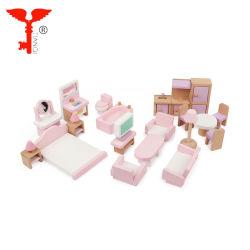 아기를 위한 도매 사랑스러운 민감한 나무로 되는 소형 인형 집 가구 장난감