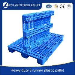 Commerce de gros industriels OEM renforcé en acier robuste de l'entrepôt de stockage montable en rack rack empilable côté unique de face/feux d'entrée en PEHD Durable Euro palettes en plastique
