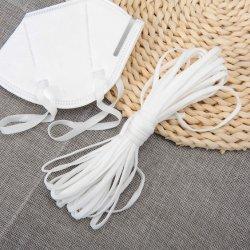 4-5mm weiße elastische Netzkabel-elastische Seil-Ohr-Schleifen-Ausdehnungs-hohes Elastizitätknit-Brücke-Ordnungspandex-Band für Kn95