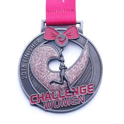 Angepasst Druckguss-Gewehr-schwarze galvanisierengoldmetallmarathon-Medaillen