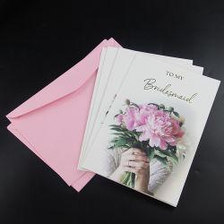 Impressão Colorida trabalho manual papel reciclável feliz aniversário cartões de saudações