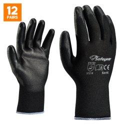 Revestido de PU pesados guantes de seguridad para el trabajo industrial o controladores, de buena calidad de goma resistente a cortes de tejido de algodón sin mano de cuero Guantes de trabajo para el comercio al por mayor