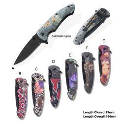 Hot Sale Couteau pliant Couteau de poche couteau de camping cadeau promotionnel (#31089À-717)