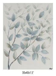 , Репродукции картин картины маслом, синий листья. 1000% ручной работы - в рамке