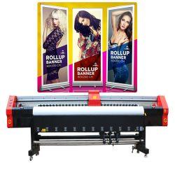 Venta en caliente 4720 cabezal de impresión Alta velocidad 4 Color Billboard 8 Máquina de impresión de inyección de tinta de pies para impresión de inyección de tinta