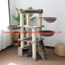 Fabrico personalizado Cat Scratch Tree Cat Condo, madeira de luxo grande Gato Tower House