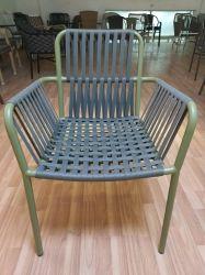 Ultimo mobilia esterna di alluminio di Hilton della corda tessuta dei bistrot di svago terrazzo impermeabile