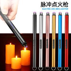 Logotipo Customerized cocina barbacoa ENCENDEDOR velas eléctricas recargables USB Arina solo encendedor arco