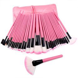 32pcs d'outils de Maquillage professionnel sous étiquette privée brosse maquillage rose Brosse brosse cosmétique Set de mélange