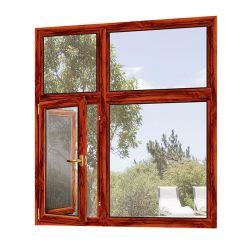 Ventana de Casement integrado de aluminio con pantalla de insectos de acero inoxidable antirrobo para la casa