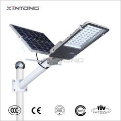 IP65 30W 50W 60W 80W en el exterior de aluminio impermeable fácil de instalar el ahorro de energía Solar LED Lámpara de jardín de la carretera de la calle con el panel y la batería de litio