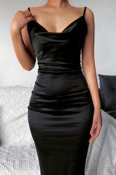 Frauen-Kleid-reizvolles Aufhängevorrichtung-Kleid-Fischschwanz-Troddel Bodycon Kleid