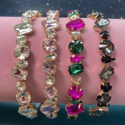 女性は輝き型の chunky の薄い bling Glitter の水晶ダイヤモンドの宝石で飾られる 女性の hairband の卸し売りのための毛ラインストーンによってパディングされたヘッドバンド 2021 ベンダー
