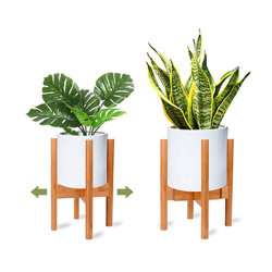 Expansível e ajustável em bambu natural Flower Stand Suporte de Fábrica